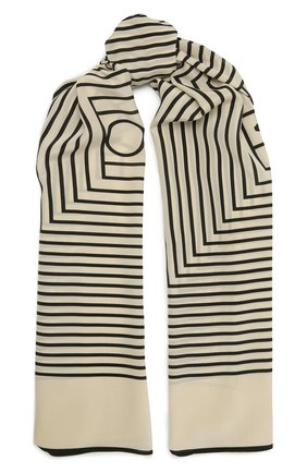 Женский шелковый платок TOTÊME бежевого цвета, арт. 212-870-802 | Фото 1