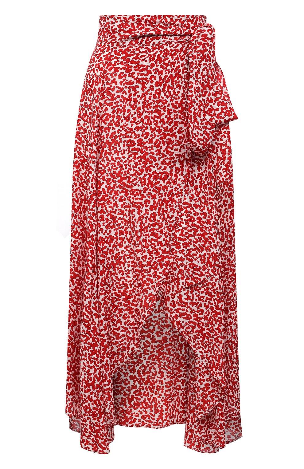 Женская шелковая юбка EVARAE красного цвета, арт. S21MILU-DTR   Фото 1
