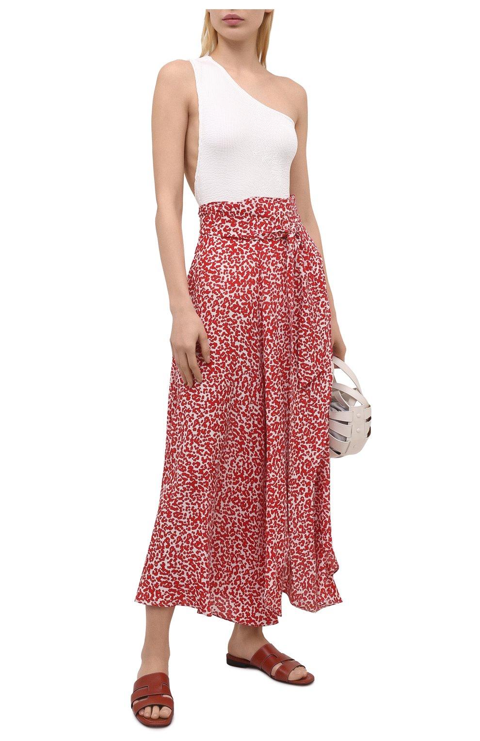 Женская шелковая юбка EVARAE красного цвета, арт. S21MILU-DTR   Фото 2