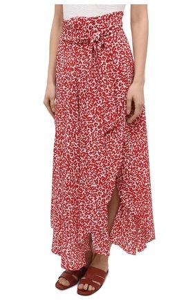 Женская шелковая юбка EVARAE красного цвета, арт. S21MILU-DTR   Фото 3