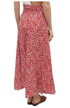 Женская шелковая юбка EVARAE красного цвета, арт. S21MILU-DTR   Фото 4