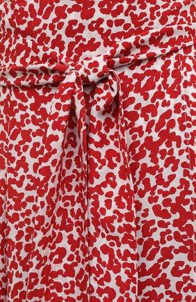 Женская шелковая юбка EVARAE красного цвета, арт. S21MILU-DTR   Фото 5