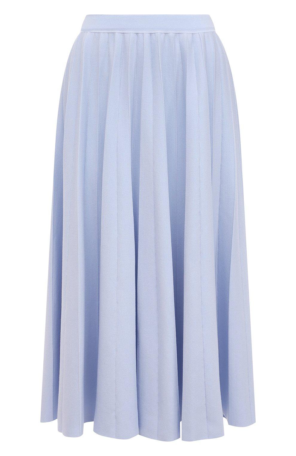 Женская шерстяная юбка GABRIELA HEARST светло-голубого цвета, арт. 321910 A016 | Фото 1