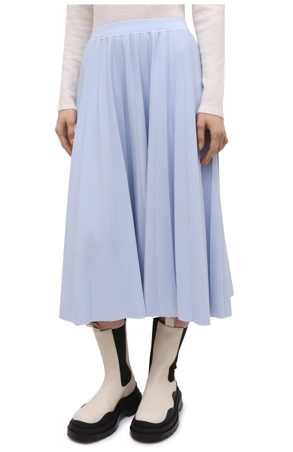 Женская шерстяная юбка GABRIELA HEARST светло-голубого цвета, арт. 321910 A016 | Фото 3