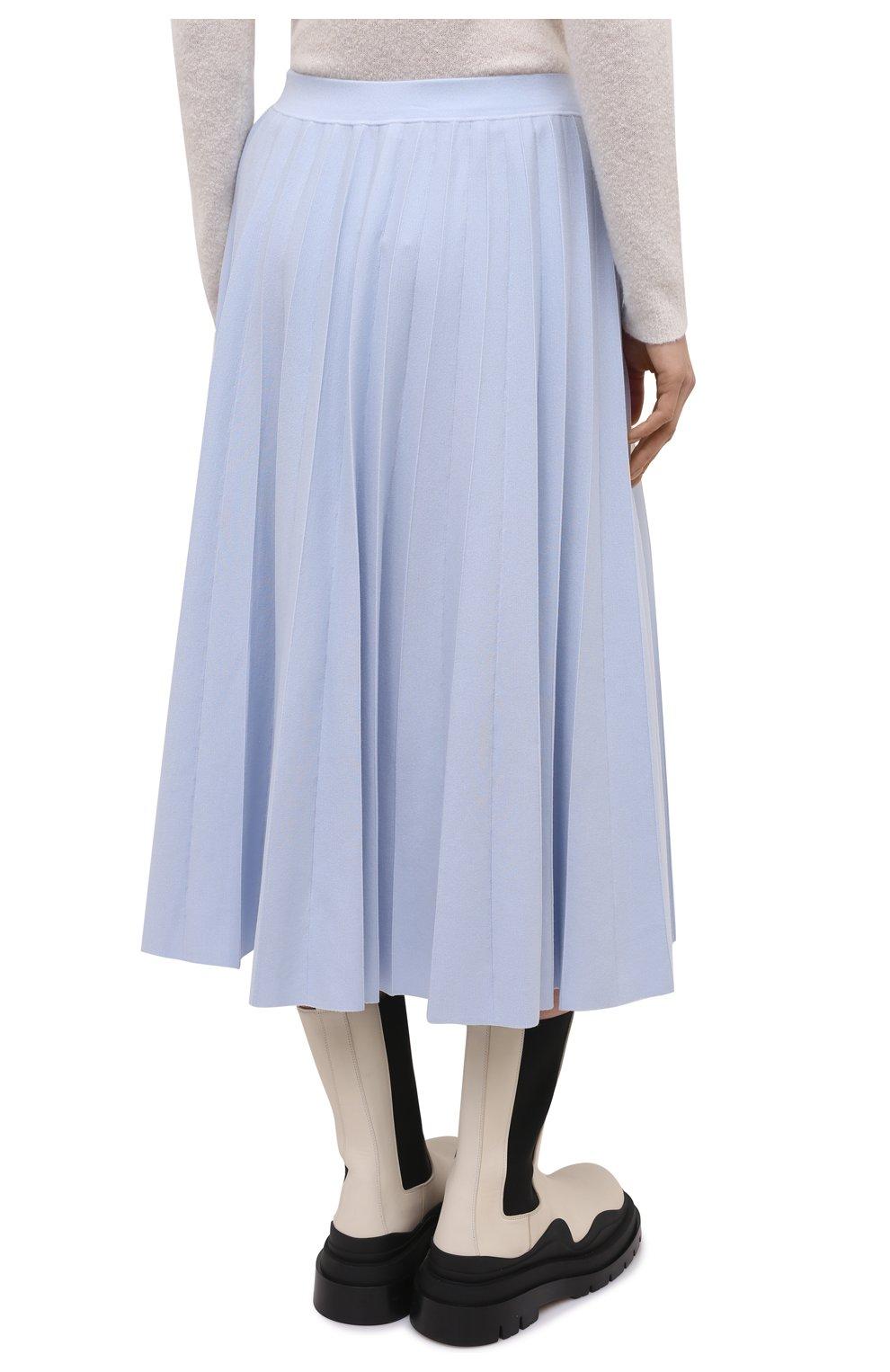 Женская шерстяная юбка GABRIELA HEARST светло-голубого цвета, арт. 321910 A016 | Фото 4