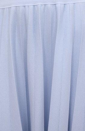 Женская шерстяная юбка GABRIELA HEARST светло-голубого цвета, арт. 321910 A016 | Фото 5
