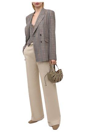 Женский шерстяной жилет GABRIELA HEARST темно-серого цвета, арт. 321513 W047 | Фото 2 (Материал внешний: Шерсть; Женское Кросс-КТ: Жилет-одежда, Жакет-одежда; Стили: Классический; Длина (верхняя одежда): Короткие; Материал подклада: Шелк)