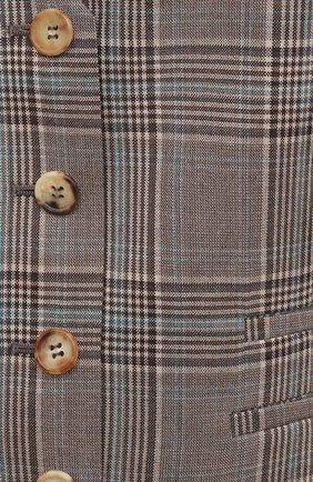 Женский шерстяной жилет GABRIELA HEARST темно-серого цвета, арт. 321513 W047 | Фото 5 (Материал внешний: Шерсть; Женское Кросс-КТ: Жилет-одежда, Жакет-одежда; Стили: Классический; Длина (верхняя одежда): Короткие; Материал подклада: Шелк)