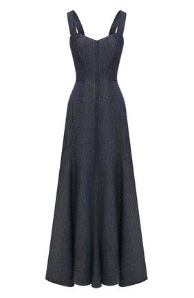 Женское льняное платье GABRIELA HEARST темно-синего цвета, арт. 321444 LI003   Фото 1