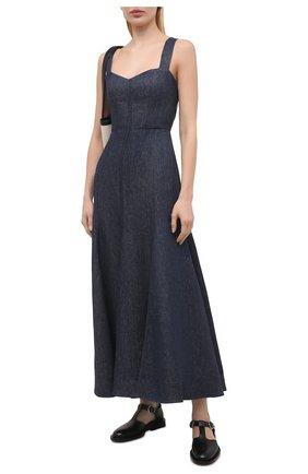 Женское льняное платье GABRIELA HEARST темно-синего цвета, арт. 321444 LI003   Фото 2