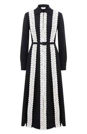 Женское шелковое платье GABRIELA HEARST черно-белого цвета, арт. 321427 S042 | Фото 1