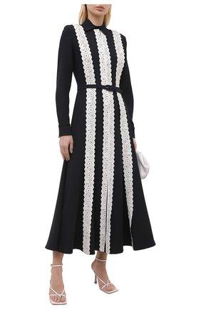 Женское шелковое платье GABRIELA HEARST черно-белого цвета, арт. 321427 S042 | Фото 2