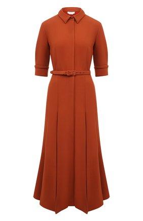 Женское шерстяное платье GABRIELA HEARST коричневого цвета, арт. 321405 W026   Фото 1