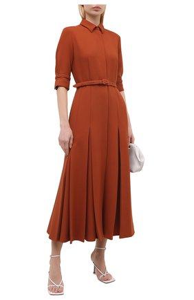 Женское шерстяное платье GABRIELA HEARST коричневого цвета, арт. 321405 W026   Фото 2