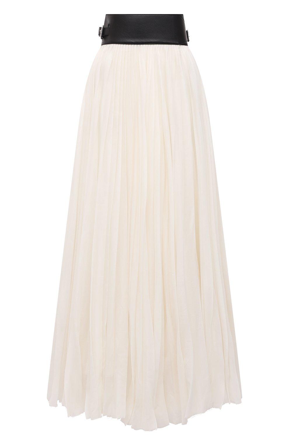 Женская плиссированная юбка GABRIELA HEARST бежевого цвета, арт. 321327 S038 | Фото 1