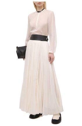 Женская плиссированная юбка GABRIELA HEARST бежевого цвета, арт. 321327 S038 | Фото 2