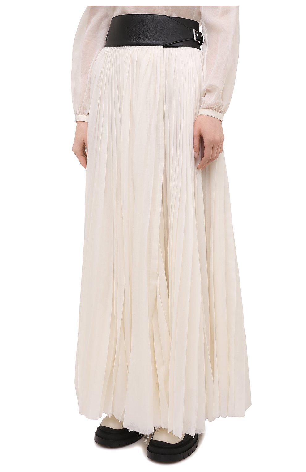 Женская плиссированная юбка GABRIELA HEARST бежевого цвета, арт. 321327 S038 | Фото 3