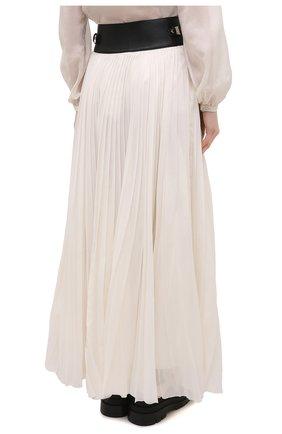 Женская плиссированная юбка GABRIELA HEARST бежевого цвета, арт. 321327 S038 | Фото 4