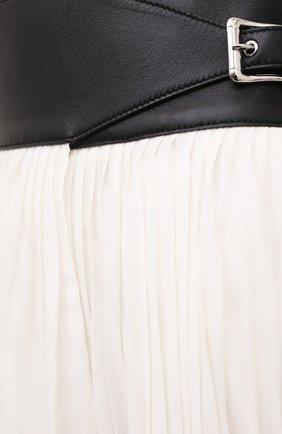 Женская плиссированная юбка GABRIELA HEARST бежевого цвета, арт. 321327 S038 | Фото 5