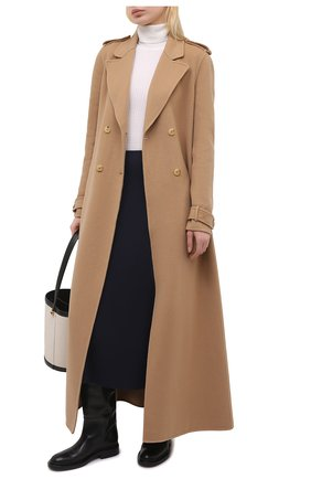 Женская шерстяная юбка GABRIELA HEARST темно-синего цвета, арт. 321307 W054   Фото 2