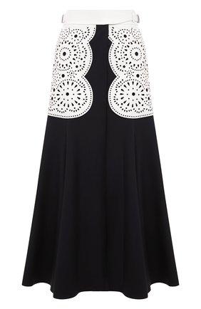 Женская шелковая юбка GABRIELA HEARST черно-белого цвета, арт. 321306 S042   Фото 1