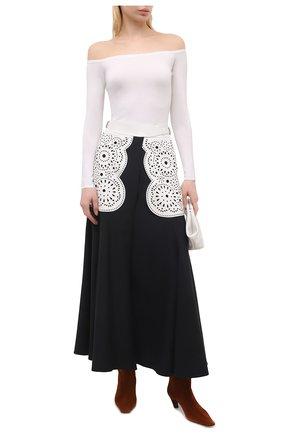 Женская шелковая юбка GABRIELA HEARST черно-белого цвета, арт. 321306 S042   Фото 2