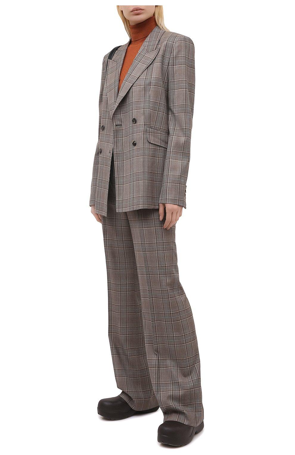 Женские шерстяные брюки GABRIELA HEARST серого цвета, арт. 321200 W047   Фото 2