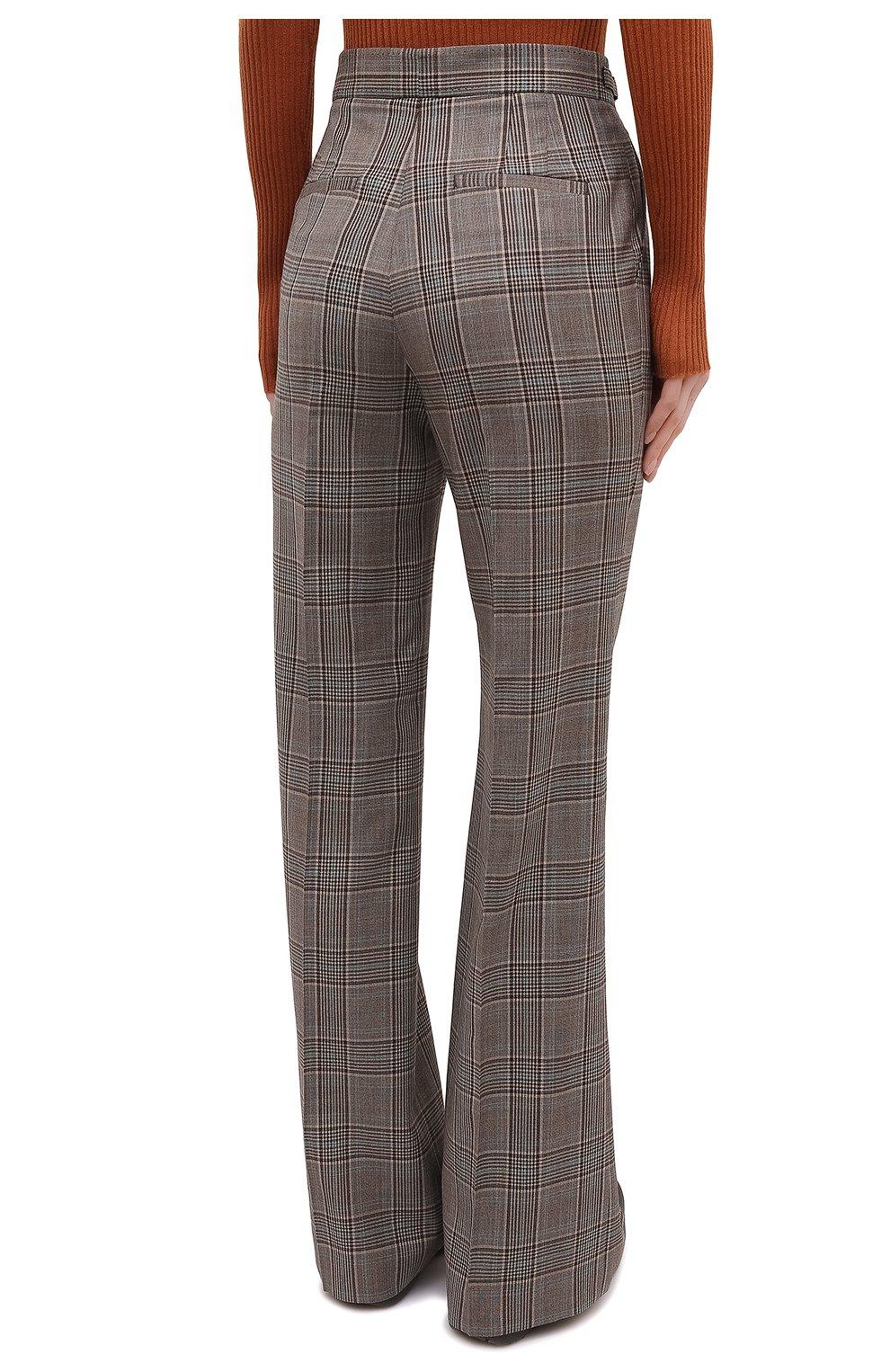 Женские шерстяные брюки GABRIELA HEARST серого цвета, арт. 321200 W047   Фото 4