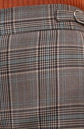 Женские шерстяные брюки GABRIELA HEARST серого цвета, арт. 321200 W047   Фото 5