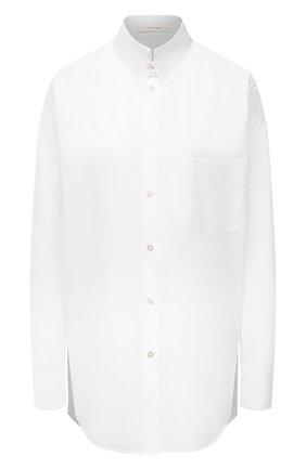 Женская хлопковая рубашка THE ROW белого цвета, арт. 5645W2043 | Фото 1