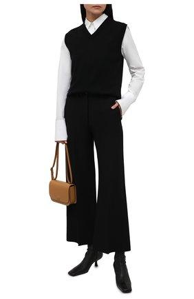 Женский шерстяной жилет THE ROW черного цвета, арт. 5706Y478 | Фото 2