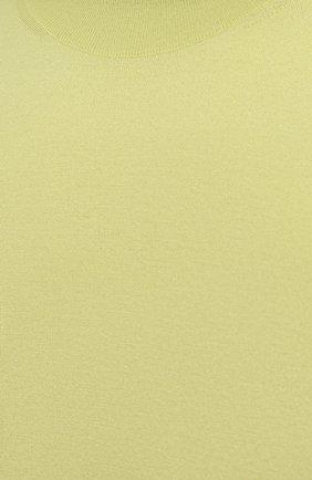 Мужской кашемировый джемпер BOTTEGA VENETA светло-зеленого цвета, арт. 658835/VKSE0 | Фото 5 (Мужское Кросс-КТ: Джемперы; Материал внешний: Шерсть, Кашемир; Рукава: Длинные; Принт: Без принта; Длина (для топов): Стандартные; Вырез: Круглый; Стили: Минимализм)