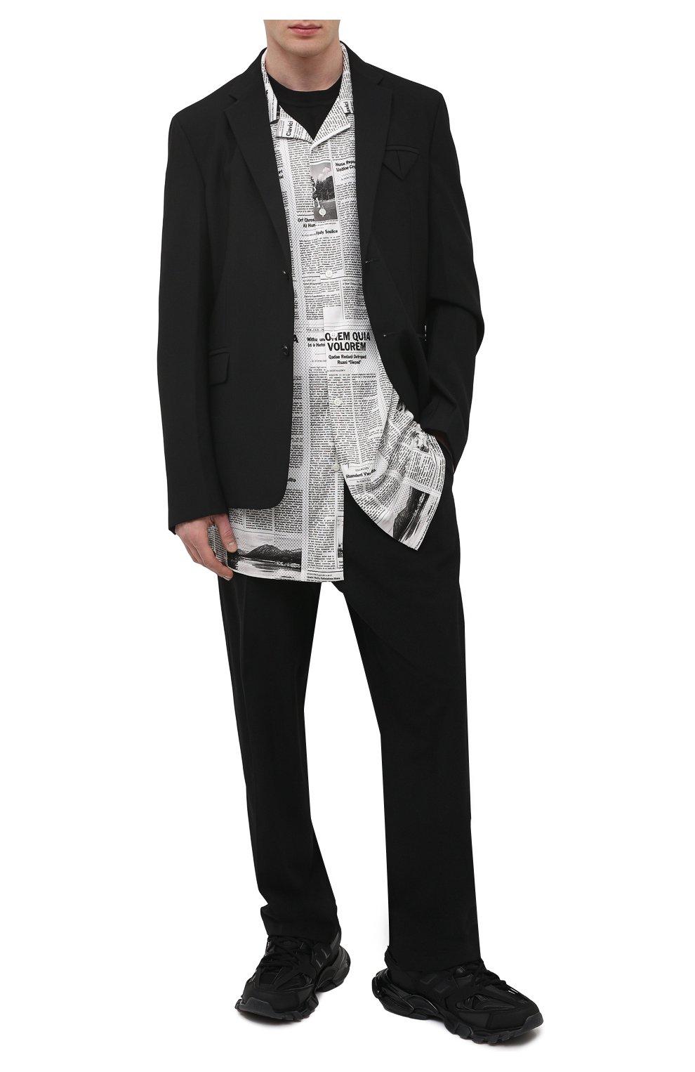 Мужские комбинированные кроссовки track BALENCIAGA черного цвета, арт. 647742/W3BM1   Фото 2 (Материал внешний: Текстиль; Стили: Гранж; Материал внутренний: Текстиль; Подошва: Массивная)