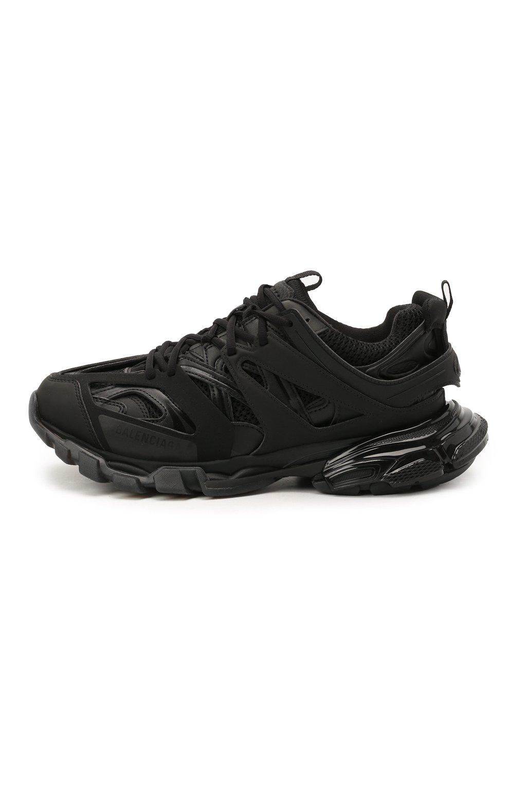 Мужские комбинированные кроссовки track BALENCIAGA черного цвета, арт. 647742/W3BM1   Фото 3 (Материал внешний: Текстиль; Стили: Гранж; Материал внутренний: Текстиль; Подошва: Массивная)