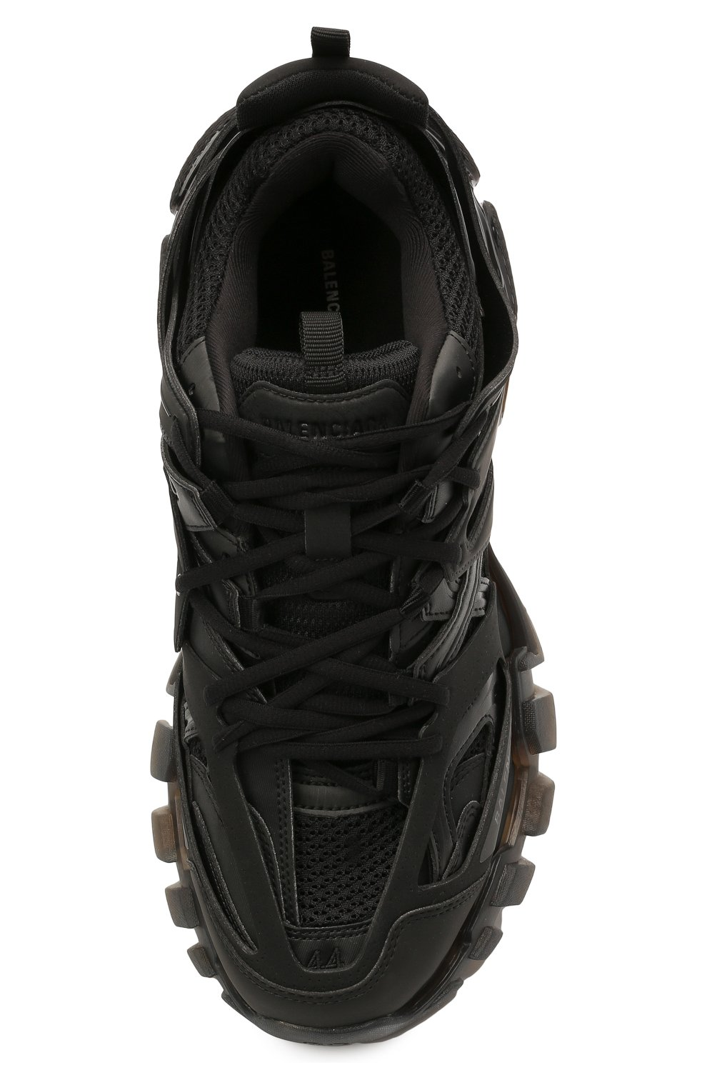 Мужские комбинированные кроссовки track BALENCIAGA черного цвета, арт. 647742/W3BM1   Фото 5 (Материал внешний: Текстиль; Стили: Гранж; Материал внутренний: Текстиль; Подошва: Массивная)