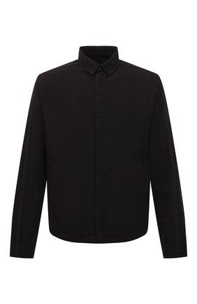 Мужская рубашка из хлопка и вискозы TRANSIT черного цвета, арт. CFUTRNE144 | Фото 1