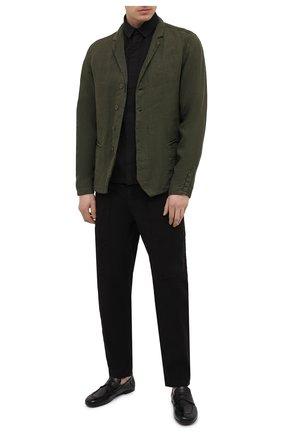 Мужская рубашка из хлопка и вискозы TRANSIT черного цвета, арт. CFUTRNE144 | Фото 2
