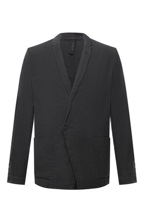 Мужской пиджак из хлопка и льна TRANSIT темно-серого цвета, арт. CFUTRNH171   Фото 1