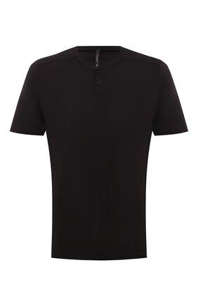 Мужская хлопковая футболка TRANSIT черного цвета, арт. CFUTRN1361 | Фото 1 (Материал внешний: Хлопок; Длина (для топов): Стандартные; Рукава: Короткие; Принт: Без принта; Стили: Кэжуэл)