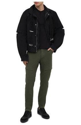 Мужская хлопковая футболка TRANSIT черного цвета, арт. CFUTRN1361 | Фото 2