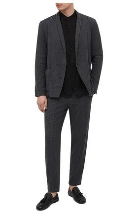 Мужские кожаные лоферы ROCCO P. черного цвета, арт. 10007/R0CK DEER   Фото 2
