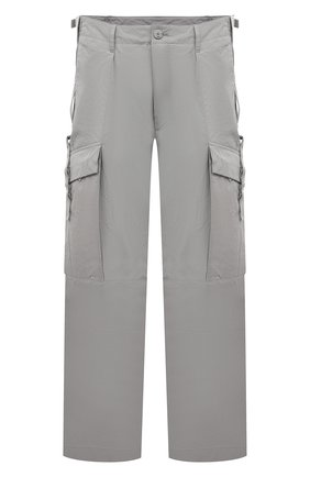 Мужские брюки-карго KAZUYUKI KUMAGAI светло-серого цвета, арт. AP11-210 | Фото 1 (Материал внешний: Синтетический материал; Длина (брюки, джинсы): Стандартные; Случай: Повседневный; Силуэт М (брюки): Карго; Стили: Минимализм)