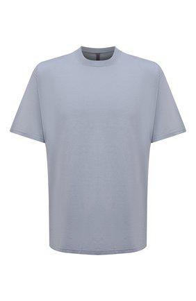 Мужская хлопковая футболка KAZUYUKI KUMAGAI синего цвета, арт. KJ11-017 | Фото 1 (Материал внешний: Хлопок; Рукава: Короткие; Длина (для топов): Стандартные; Принт: Без принта; Стили: Минимализм)