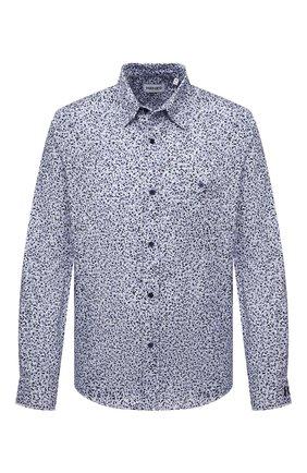 Мужская хлопковая рубашка KENZO голубого цвета, арт. FB55CH4019LS | Фото 1