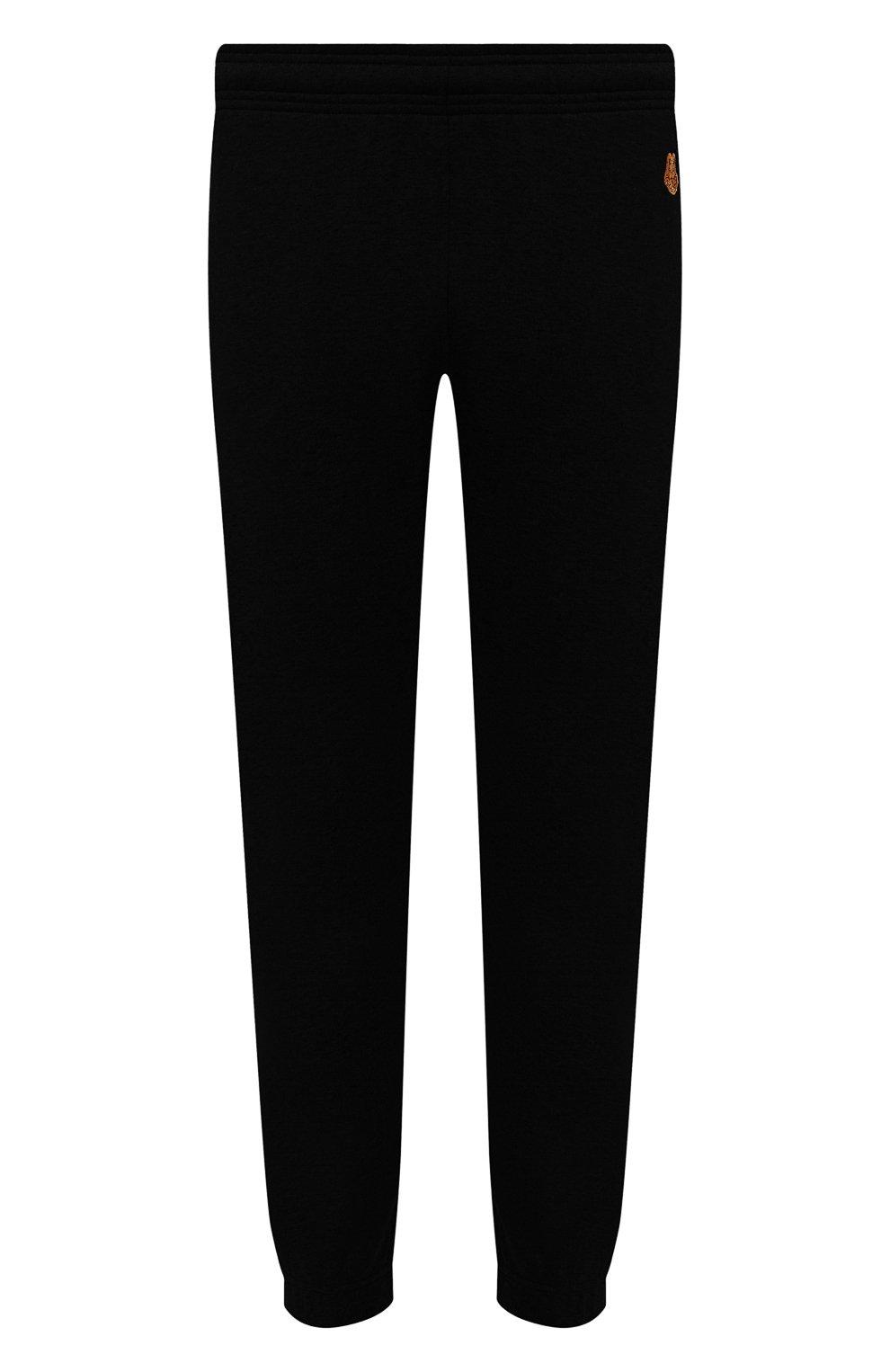 Мужские хлопковые джоггеры KENZO черного цвета, арт. FB55PA7114ML   Фото 1 (Длина (брюки, джинсы): Стандартные; Материал внешний: Хлопок; Стили: Спорт-шик; Силуэт М (брюки): Джоггеры)
