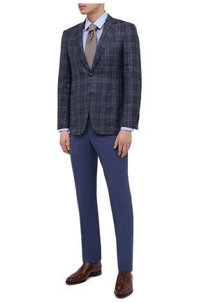 Мужской пиджак из шерсти и шелка CANALI темно-синего цвета, арт. 23288/CF00447/116 | Фото 2
