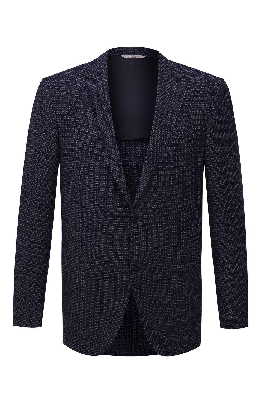 Мужской шерстяной пиджак CANALI темно-синего цвета, арт. 23288/CF03169/116   Фото 1
