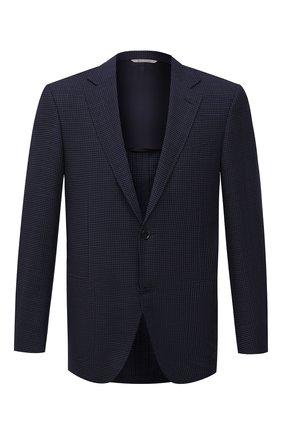 Мужской шерстяной пиджак CANALI темно-синего цвета, арт. 23288/CF03169/116 | Фото 1