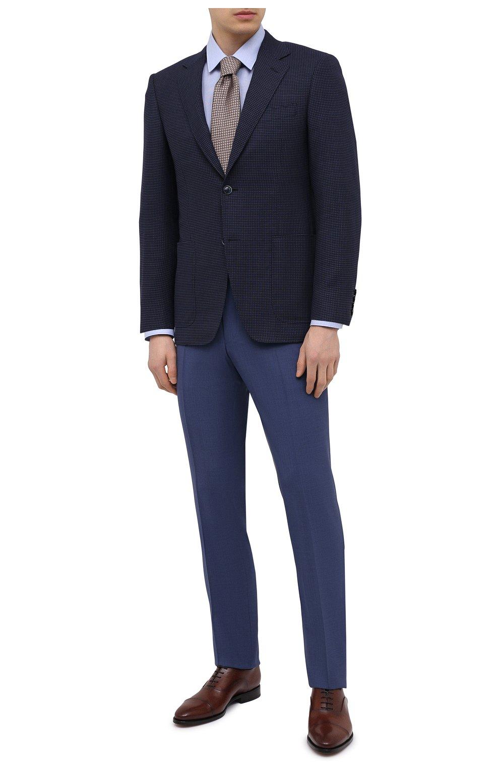 Мужской шерстяной пиджак CANALI темно-синего цвета, арт. 23288/CF03169/116   Фото 2
