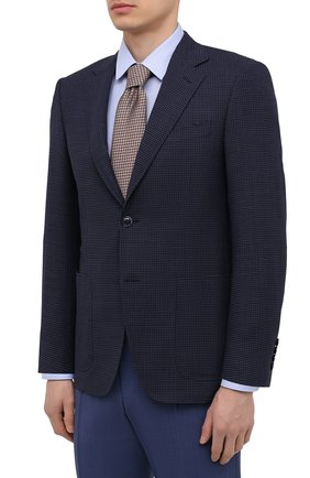 Мужской шерстяной пиджак CANALI темно-синего цвета, арт. 23288/CF03169/116   Фото 3